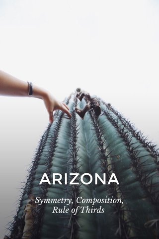 ARIZONA Symmetry, Composition, Rule of Thirds