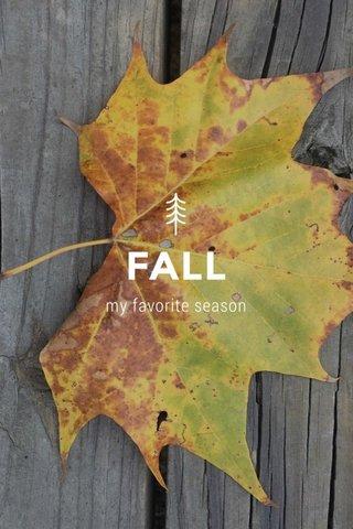 FALL my favorite season