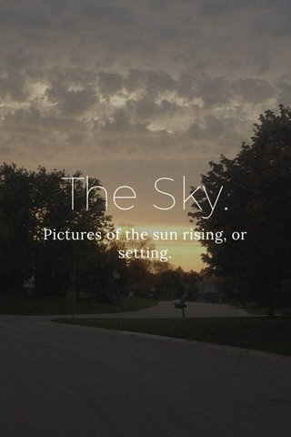 The Sky. Pictures of the sun rising, or setting.
