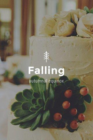 Falling autumnal equinox