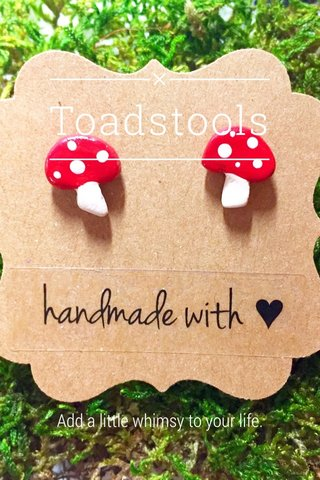 Toadstools Add a little whimsy to your life.