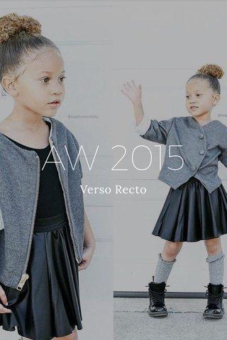 AW 2015 Verso Recto