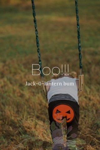 Boo!!! Jack-0-lantern bum