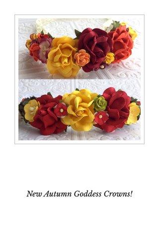 New Autumn Goddess Crowns!