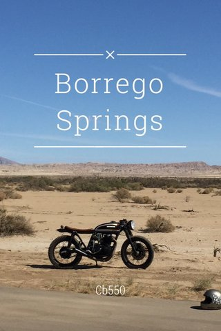 Borrego Springs Cb550