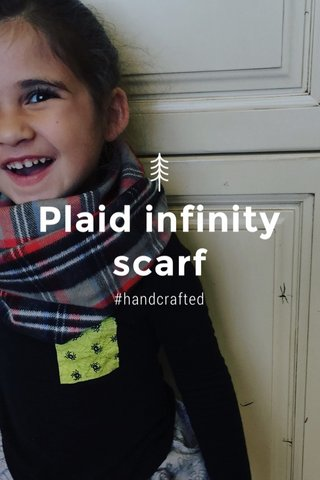 Plaid infinity scarf #handcrafted