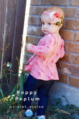 Poppy Peplum @violet_eloise