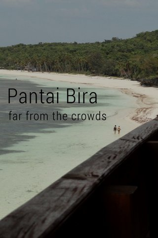 Pantai Bira far from the crowds