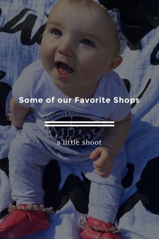 Some of our Favorite Shops a little shoot