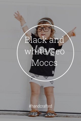 Black and white Geo Moccs #handcrafted