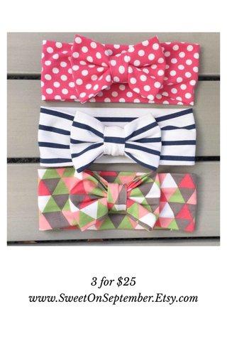 3 for $25 www.SweetOnSeptember.Etsy.com