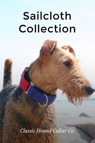Sailcloth Collection Classic Hound Collar Co.