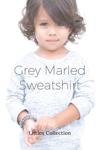 Grey Marled Sweatshirt Littles Collection