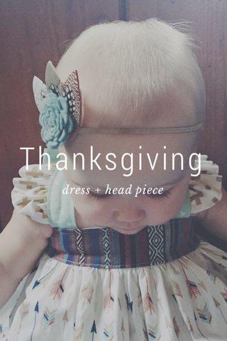 Thanksgiving dress + head piece