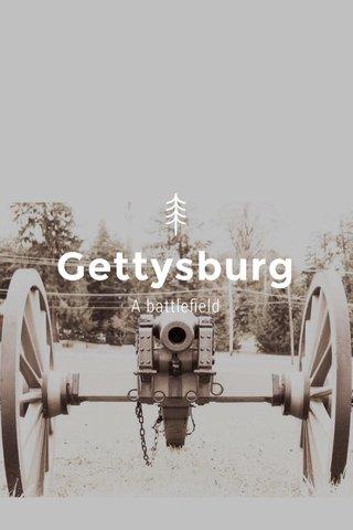 Gettysburg A battlefield