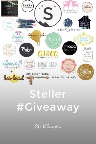 Steller #Giveaway 26 Winners