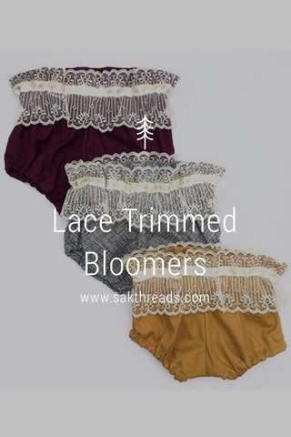 Lace Trimmed Bloomers www.sakthreads.com