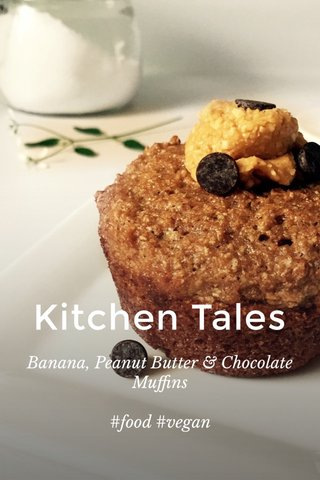 Kitchen Tales Banana, Peanut Butter & Chocolate Muffins #food #vegan