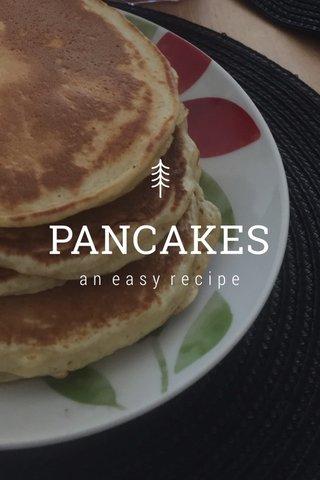 PANCAKES an easy recipe