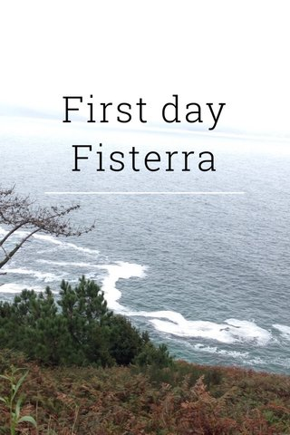 First day Fisterra