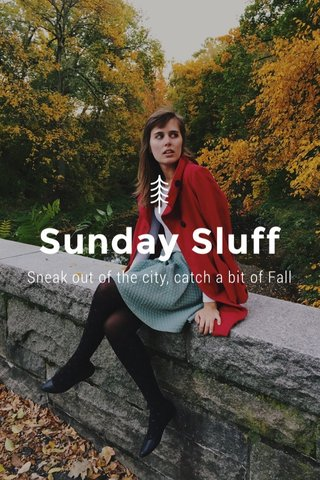 Sunday Sluff Sneak out of the city, catch a bit of Fall