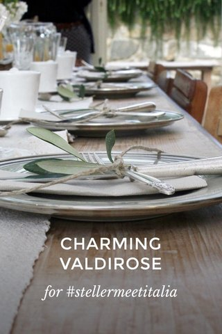 CHARMING VALDIROSE for #stellermeetitalia
