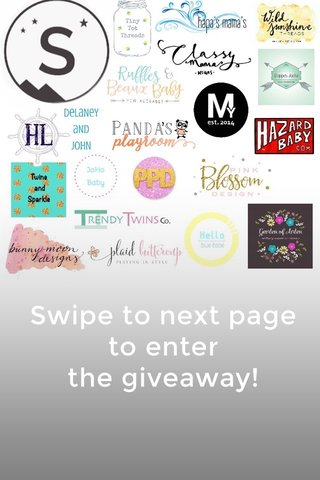 Swipe to next page to enter the giveaway!