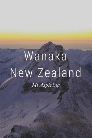 Wanaka New Zealand Mt Aspiring
