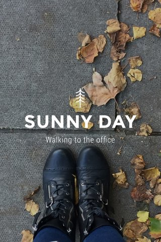 SUNNY DAY Walking to the office