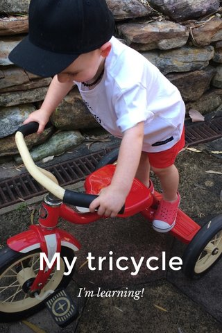 My tricycle I'm learning!