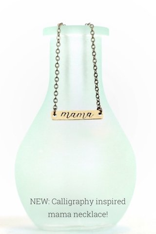 NEW: Calligraphy inspired mama necklace!