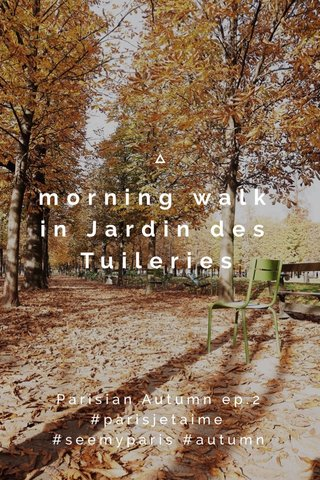 morning walk in Jardin des Tuileries Parisian Autumn ep.2 #parisjetaime #seemyparis #autumn