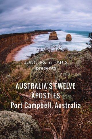 AUSTRALIA'S TWELVE APOSTLES Port Campbell, Australia JUNGLES in PARIS presents