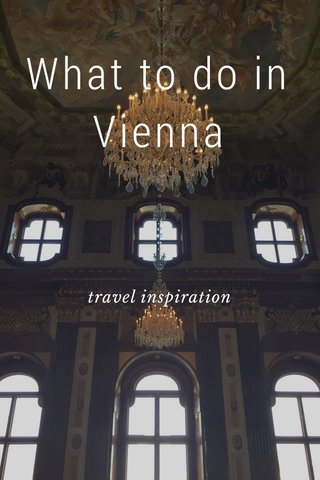 What to do in Vienna travel inspiration