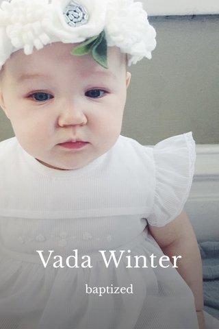 Vada Winter baptized