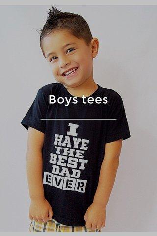 Boys tees
