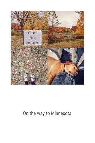 On the way to Minnesota