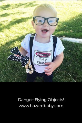 Danger: Flying Objects! www.hazardbaby.com