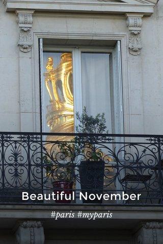 Beautiful November #paris #myparis