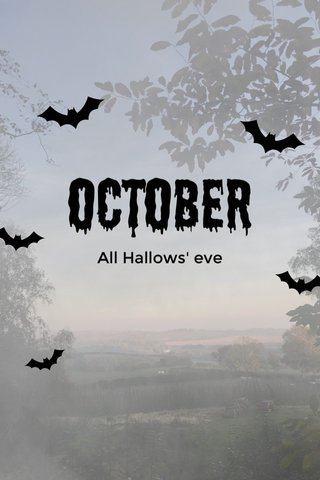 October All Hallows' eve