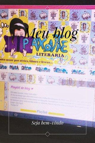 Meu blog Seja bem-vindo