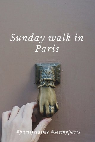 Sunday walk in Paris #parisjetaime #seemyparis