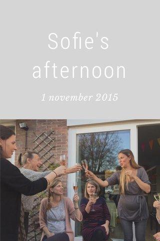 Sofie's afternoon 1 november 2015