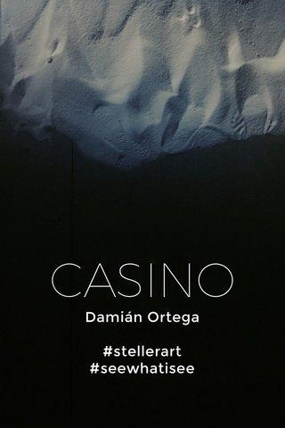 CASINO Damián Ortega #stellerart #seewhatisee