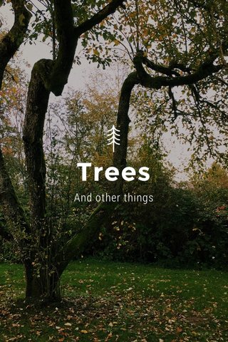 Trees And other things