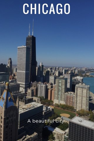 CHICAGO A beautiful city
