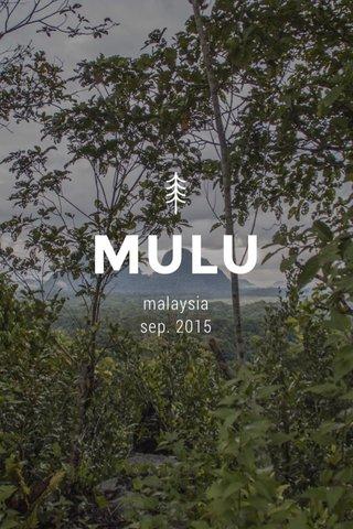 MULU malaysia sep. 2015