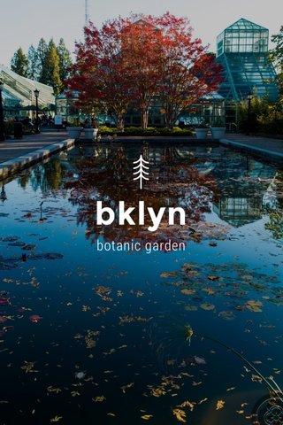 bklyn botanic garden
