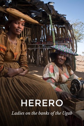 HERERO Ladies on the banks of the Ugab
