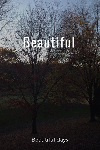Beautiful Beautiful days